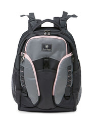 Jeep Adventurers Diaper Backpack- Grey & Pink