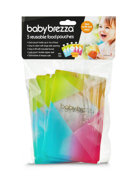 Reusable Easy Fill Food Pouches 5 Pack Baby Brezza