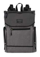Eddie Bauer Echo Diaper Backpack- Grey Crosshatch