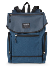 Eddie Bauer Echo Diaper Backpack- Navy Crosshatch