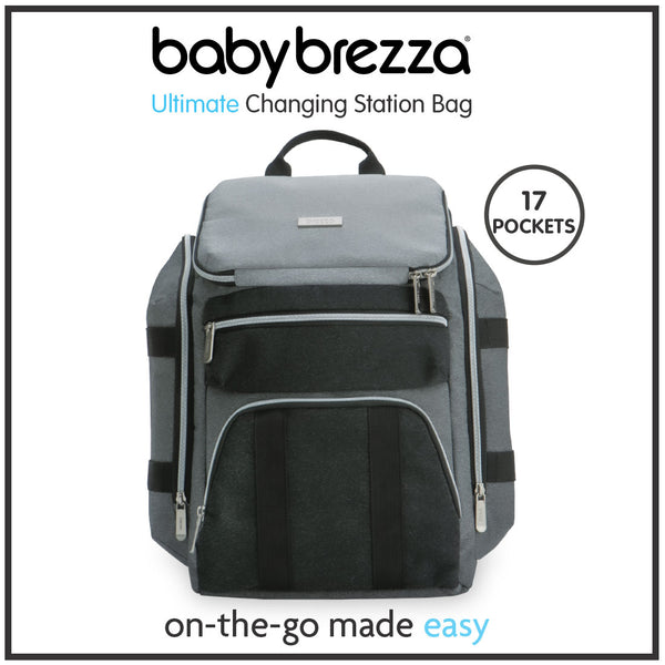 Baby Brezza Ultimate Changing Station Diaper Bag Backpack