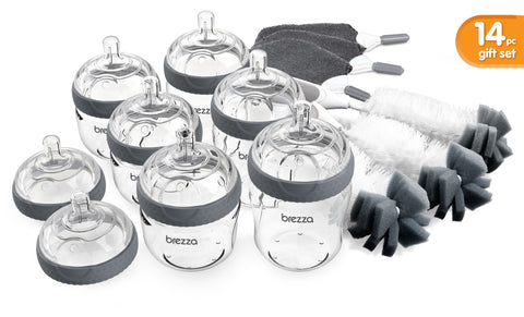 Baby Brezza Glass Bottle Gift Set:  14 Pieces