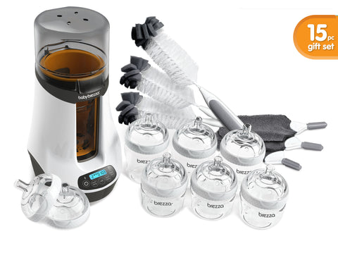 Deluxe Gift Set 15 pc  with Bottle Warmer - Bottle Warmer Gift Set - Baby Brezza