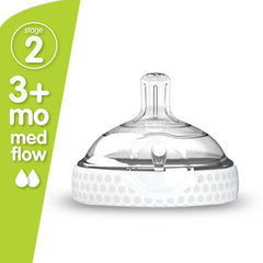 Stage 2 Nipple Double Pack - Baby Bottle Nipple - Baby Brezza