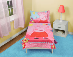 Bedding Set | Peppa Pig Adoreable 4-Piece Toddler Bedding Set