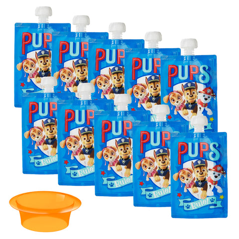 Paw Patrol Reusable Food Pouches - 10 Pack