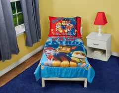 Bedding Set | Paw Patrol Here to Help 4-Piece Toddler Bedding Set