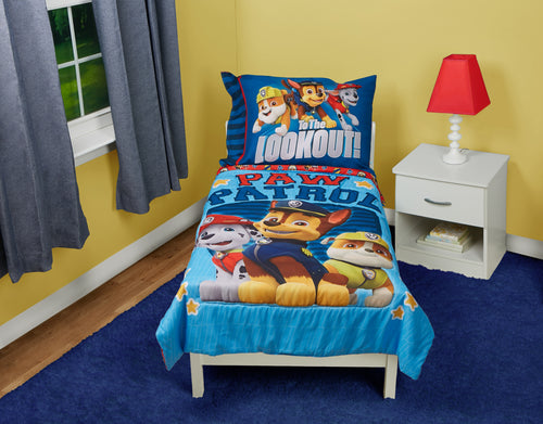 Paw Patrol Here To Help 4 Piece Toddler Bedding Set