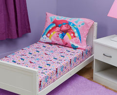 Bedding Set | Trolls 2-Piece Toddler Fitted Sheet & Pillowcase Set