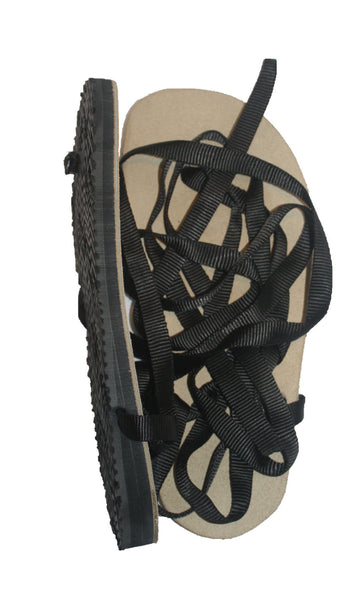 Tready Sole Huaraches from Simply Shod. 6mm toe-heel drop with an extra 6mm stack.