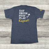 Eat Drink Stay Play Repeat (Grey)