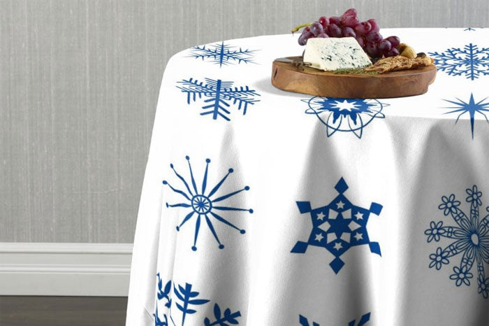 Holiday Cheer Linens with Snowflakes