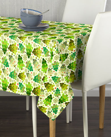 Abstract Christmas Trees Rectangle Tablecloths