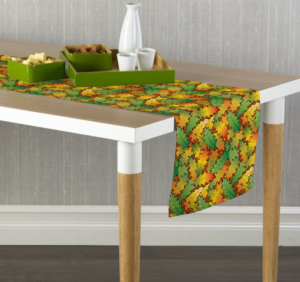Autumn Oak Leaves Table Runners