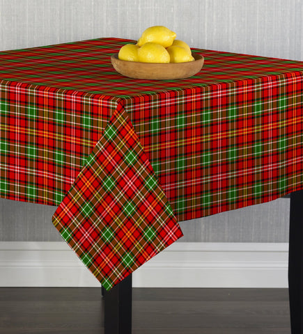 Christmas Plaid II Square Tablecloths