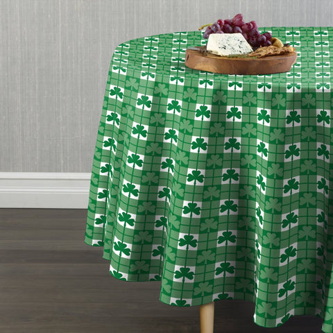 Clover Plaid Round Tablecloths