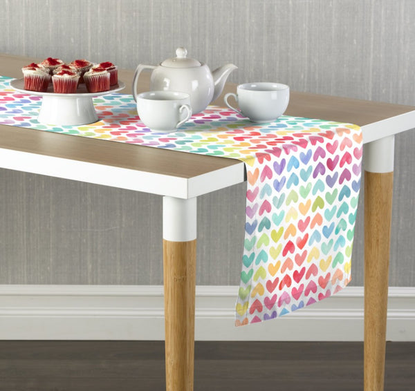 Colorful Hearts Table Runners