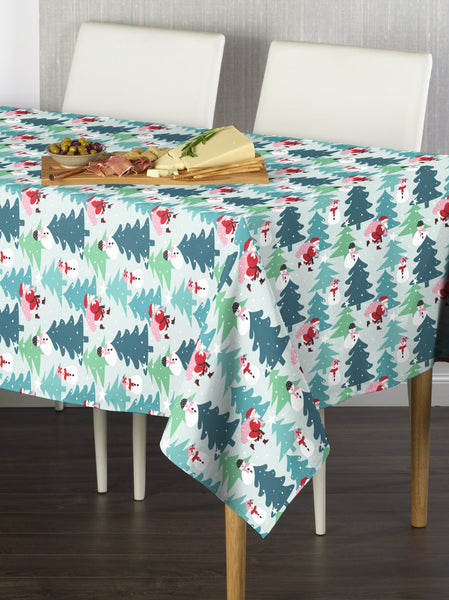 Santa and Snowman Rectangle Tablecloths