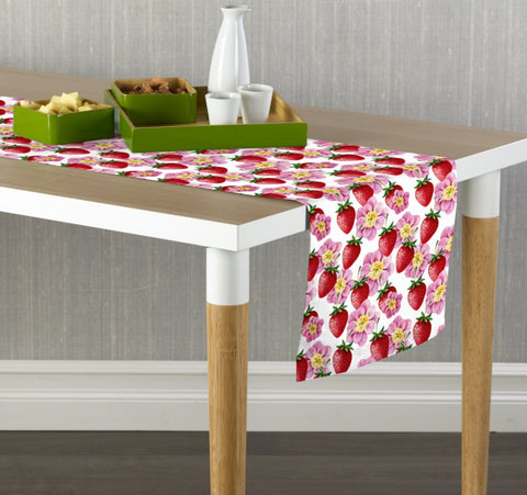 Strawberries and Peonies Table Runners
