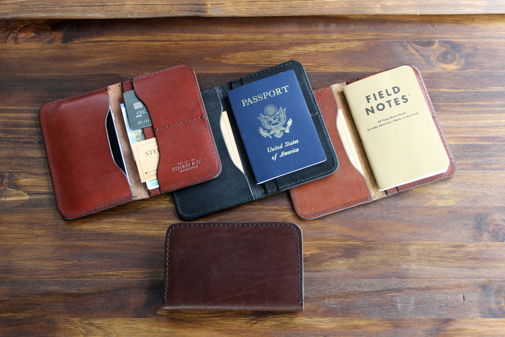 Steurer & Co. Boone Journal Pocket Wallet.  Handmade Small Batch Leather Goods. SteurerJacoby Gold Bag Designer.