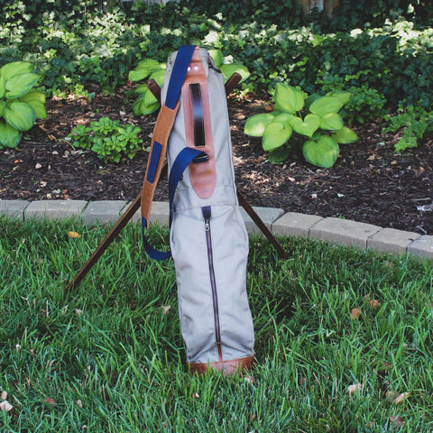 Sunday Golf Bag, Steurer Golf Bag, Steurer & Co., Hand made in Kentucky, Leather Goods, Hickory, Minimalist Golf, Minimalist Bag, Pencil Golf Bag, Leather Goods, Made in the USA