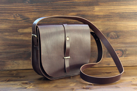 Fayette Saddle Bag, Steurer & Co.. Leather Cross Body Bag, Leather Saddle Bag, Leather Satchel
