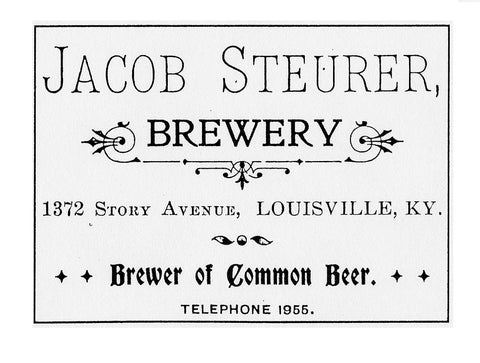 Jacob Steurer, Steurer & Co. Leatherworks, Louisville, Kentucky, Leather Can Koozie