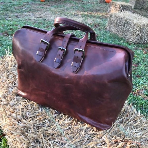 Jefferson Overnight Bag in Veggie Tan Thoroughbred