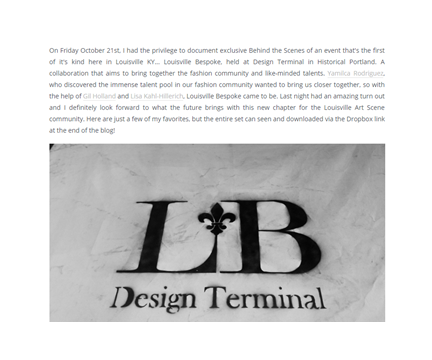 Louisville Bespoke and Design Terminal with Gary Barragan Photography