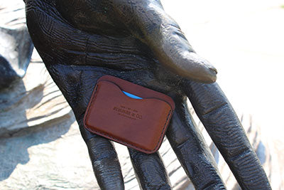 Clay Pocket Wallet in Bourbon.  Steurer & Co. Leatherworks.  Designer of SteurerJacoby Vintage Golf Bags.