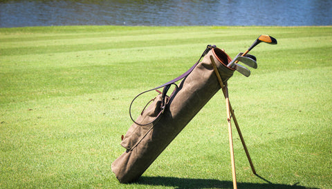 Steurer & Co. Sunday Golf Bag, Vintage Wax Canvas and Leather Golf Bag, Louisville, KY