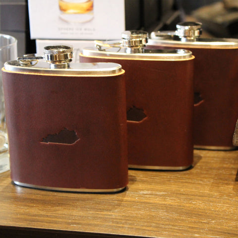 Steurer & Co. Franklin Flask, Omni Hotel Louisville, Lewis & Louis Bourbon Market. Boutique, Made in USA, Made in Kentucky
