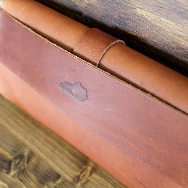 Steurer & Co. Besie Bend Clutch, Handmade in USA, Handmade in Louisville KY, Leather Clutch