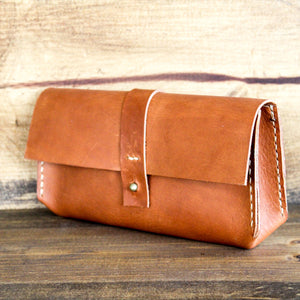 Steurer & Co. Leather Clutch, Veggie Tanned Leather, Leather Wristlet, Handmade Leather Bags and Accessories