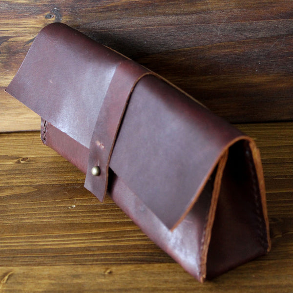 Steurer & Co. Bessie Bend Clutch, Hand Stitched Leather Bag, Made in Kentucky, Made in the USA