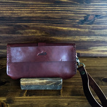 Load image into Gallery viewer, Steurer & Co. Leather Clutch, Veggie Tanned Leather, Leather Wristlet, Handmade Leather Bags and Accessories