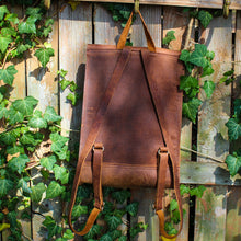 Load image into Gallery viewer, Steurer & Co. Leather, Bison Back Pack, Buffalo Back Pack, Made in Kentucky, Handmade Leather Bags and Accessories
