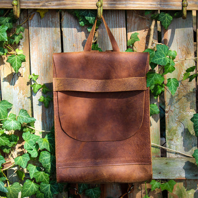 Steurer & Co. Leather, Bison Back Pack, Buffalo Back Pack, Made in Kentucky, Handmade Leather Bags and Accessories