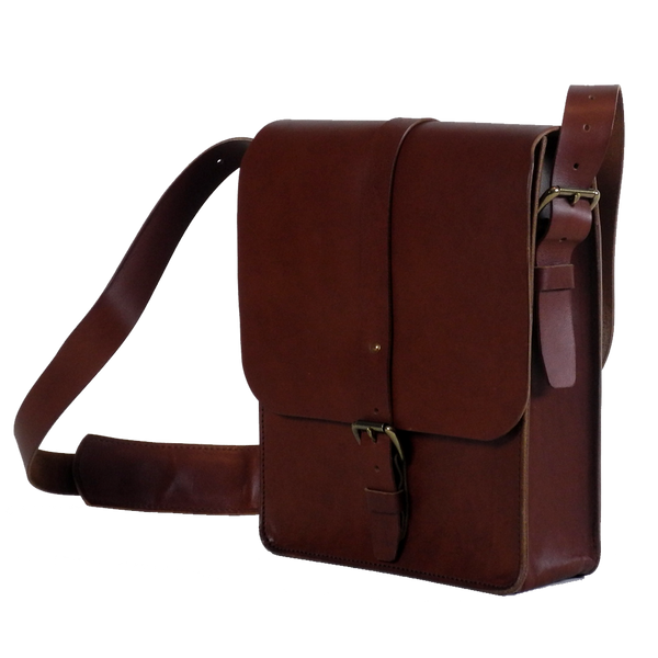 Steurer & Co. Clark Map Bag Bourbon Side, Satchel, Handmade Leather Bags and Accessories