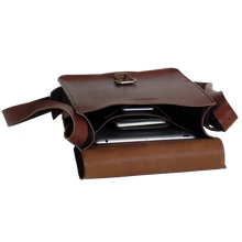 Load image into Gallery viewer, Steurer & Co. Clark Map Bag Propped, Satchel, Handmade Leather Bags and Accessories