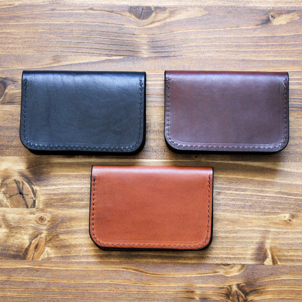 Steurer & Co. Clay Bifold Wallet, Leather Card Wallet, Hand Stitched Leather Wallet