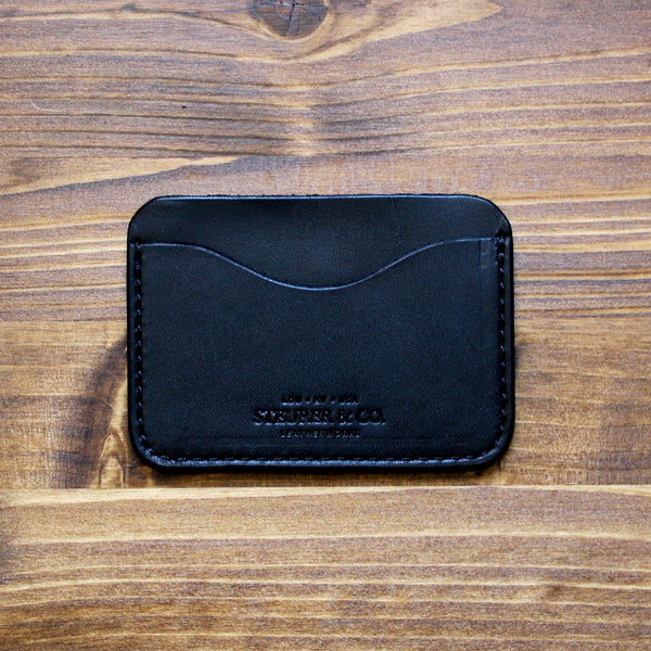 Steurer & Co. Clay Pocket Wallet.  Classic Three Pocket Wallet. Handmade Leather. Louisville, KY.