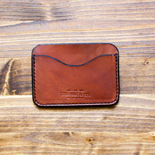 Load image into Gallery viewer, Steurer & Co. Clay Pocket Wallet.  Classic Three Pocket Wallet. Handmade Leather. Louisville, KY.
