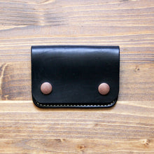 Load image into Gallery viewer, Steurer & Co. Clay Snap Wallet, Modern trucker wallet, Handmade Leather Goods.
