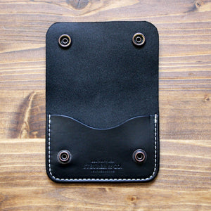 Steurer & Co. Clay Snap Wallet, Modern trucker wallet, Handmade Leather Goods.