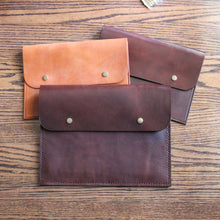 Load image into Gallery viewer, Leather MacBook Folio, Leather Computer Folio, Hand Stitched Leather, Made in Kentucky, Hand Crafted Leather Totes, Satchels & Accessories, Steurer & Co.