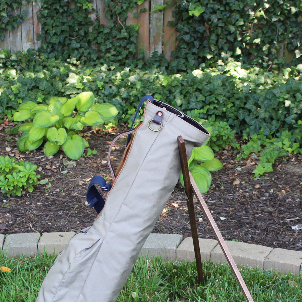 Sunday Golf Bag, Steurer Golf Bag, Steurer & Co., Hand made in Kentucky, Leather Goods, Hickory, Minimalist Golf, Made in the USA