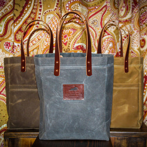 Double Sleeve Jessamine Spirit Tote, Made in Kentucky, Wine Tote, Bourbon Tote, Waxed Canvas