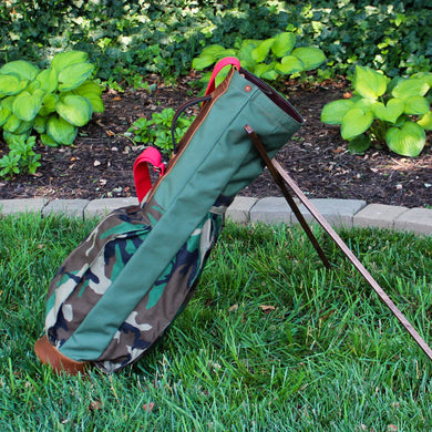 Sunday Golf Bag, Steurer & Co. Golf Bag, Steurer & Co., Hand made in Kentucky, Leather Goods, Hickory, Minimalist Golf, Made in the USA