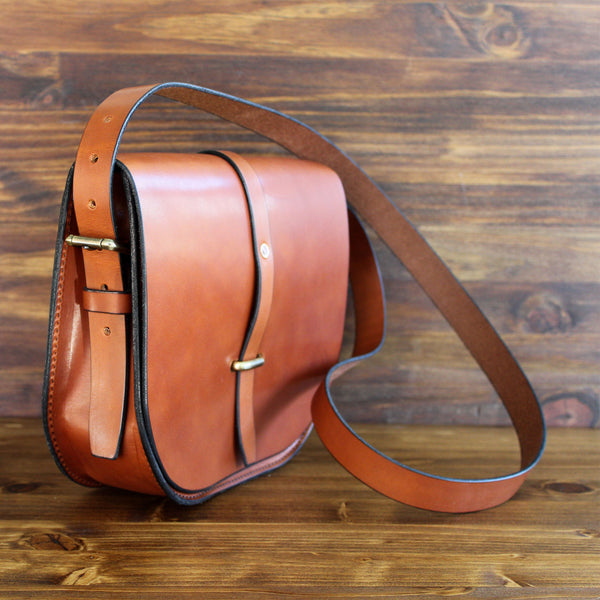 Steurer & Co. Fayette Saddle Bag, Leather Cross Body Bag, Handmade Leather Bags, Totes, Satchels and Accessories, Bridle Leather, Latigo Leather
